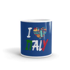 I Love Italy White Glossy Mug