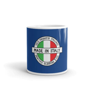 Made in Italy 100% Italiano White Glossy Mug